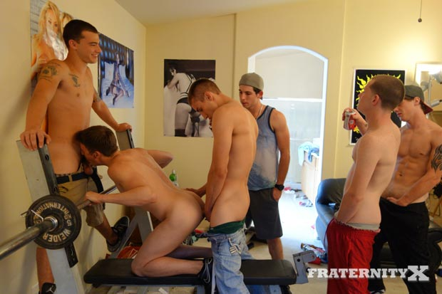 Fraternity Brothers Gangbang Sex