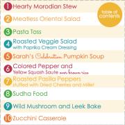 Veggie Main Dishes Mini Cookbook Preview 1