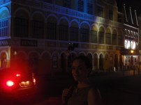 Holly and I exploring Punda by night