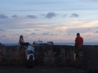 Holly and Erik looking at the view from Fort Beekenburg