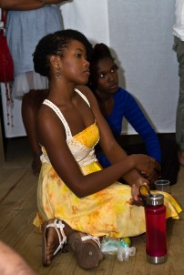 Barbadian artists Shanika Grimes and Versia Harris