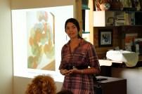 Katherine Kennedy presenting her work
