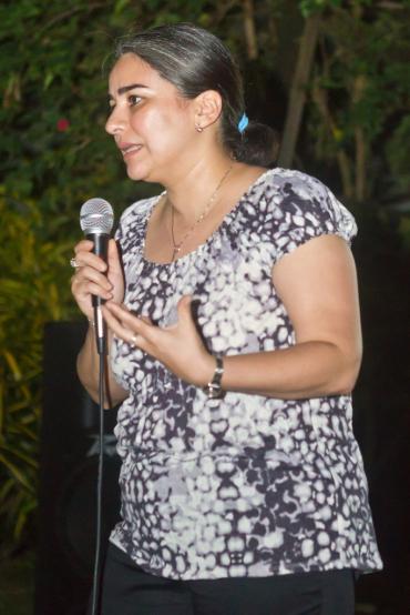 Tatiana Flores speaking about Latin American art