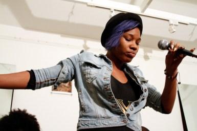 Mahalia Cummins of Nexcyx performing
