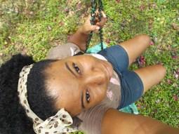 Cherise on the swing at Fresh Milk