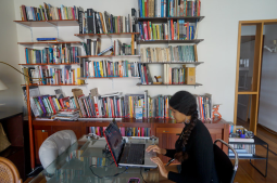 Katherine Kennedy in Casa Tomada's reading room. Image courtesy of Casa Tomada.
