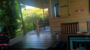 On the deck at Fresh Milk