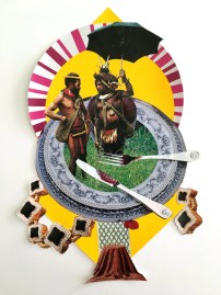 Nyugen Smith, Black Opulence, Collage and screenprint, 2016