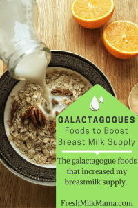 galactagogue foods to boost milk supply