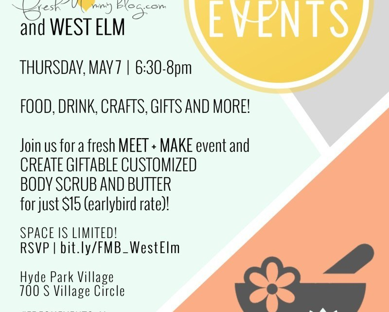 Come craft and create with us and take home liftable customized body butter and body scrub with scented essential oils and dried florals just in time for mothers day!