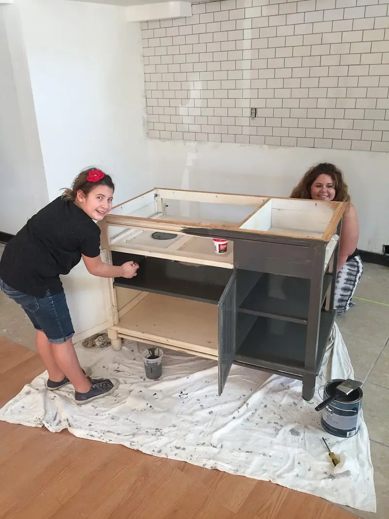 Before and After- A Modern Kitchen Island DIY Makeover on a Budget!