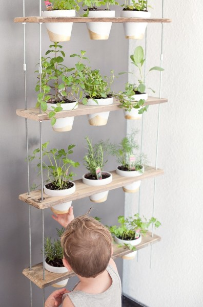 indoor hanging garden ideas Custom Potted Hanging Herb Garden DIY - Fresh Mommy Blog
