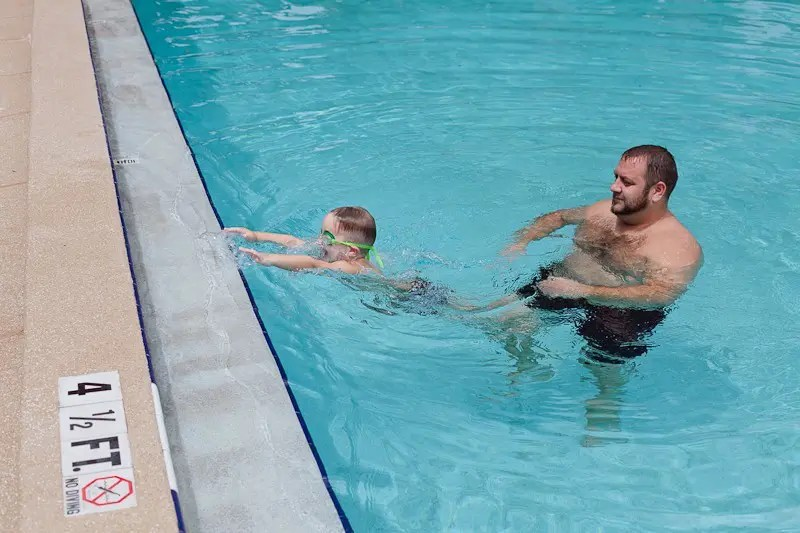 Olympic Inspiration and Teaching Our Babies to Swim! It's easier to do than it looks, so #LetsPowerTheirDreams and support the Olympics with P&G at Walmart