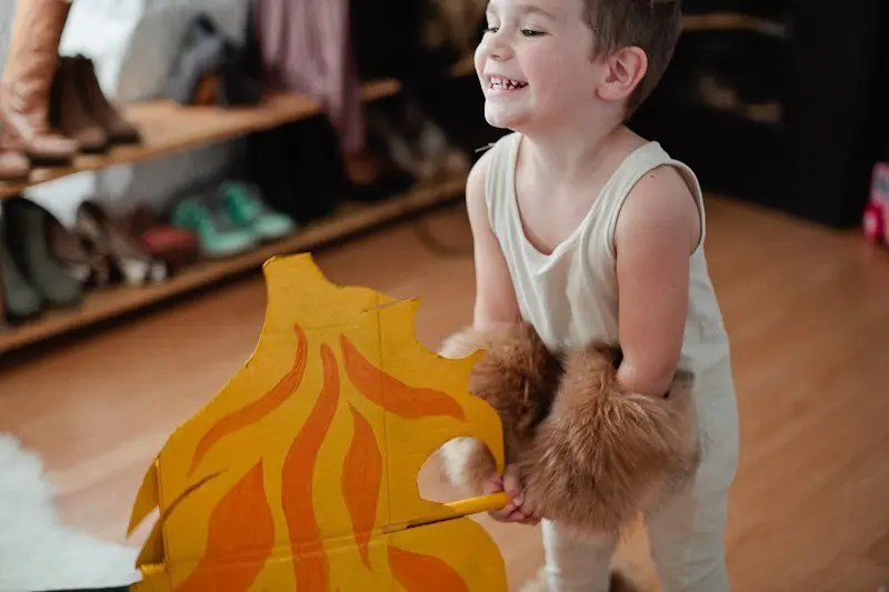 A DIY Family Circus Costume complete with Strong Man, Lion Tamer - Ring Master, Lion, Acrobat, Fire Breather and Clown!