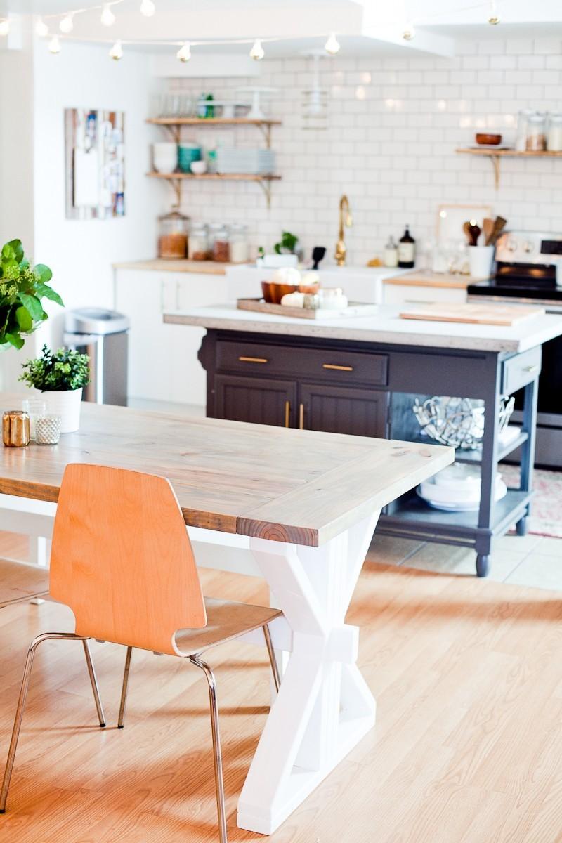 diy farmhouse table full tutorial fresh mommy blog fresh mommy blog. Black Bedroom Furniture Sets. Home Design Ideas