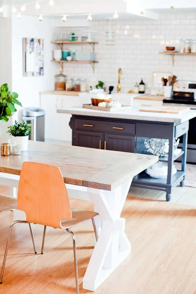 A DIY Farmhouse Table For Kitchen Or Dining Under 100