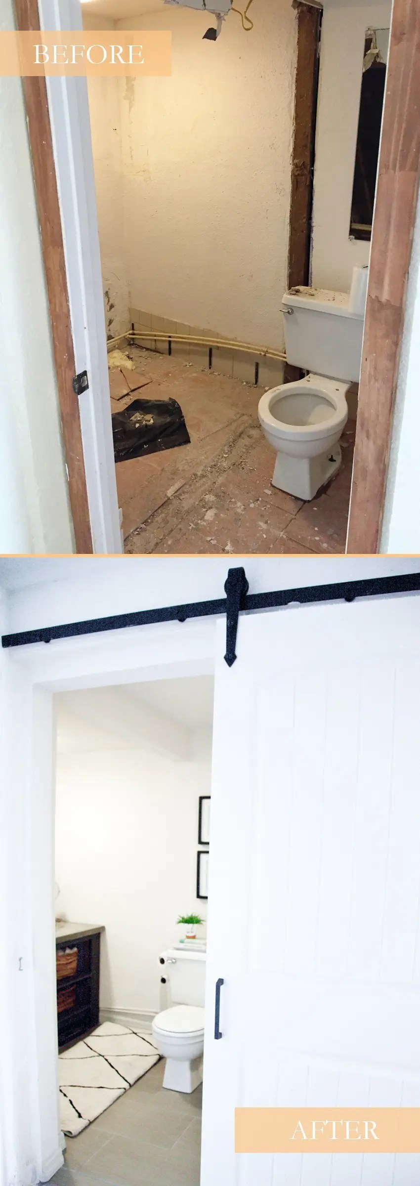 taking it our light and bright simple studio bathroom remodel a before and after