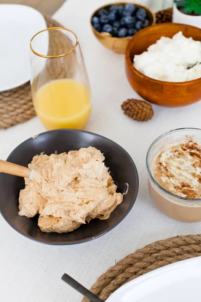 A deliciously creamy whipped cinnamon pumpkin butter that is delicious on everything from toast, waffles, rolls and more. Serve it at your Thanksgiving table, your fall holiday party or feast, at breakfast, lunch or dinner!