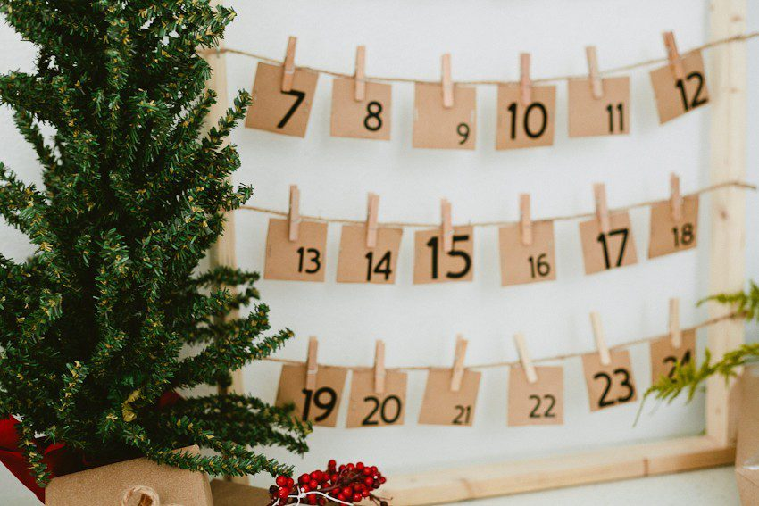 A DIY Advent Calendar and over 40 advent calendar activities for the whole family to enjoy!
