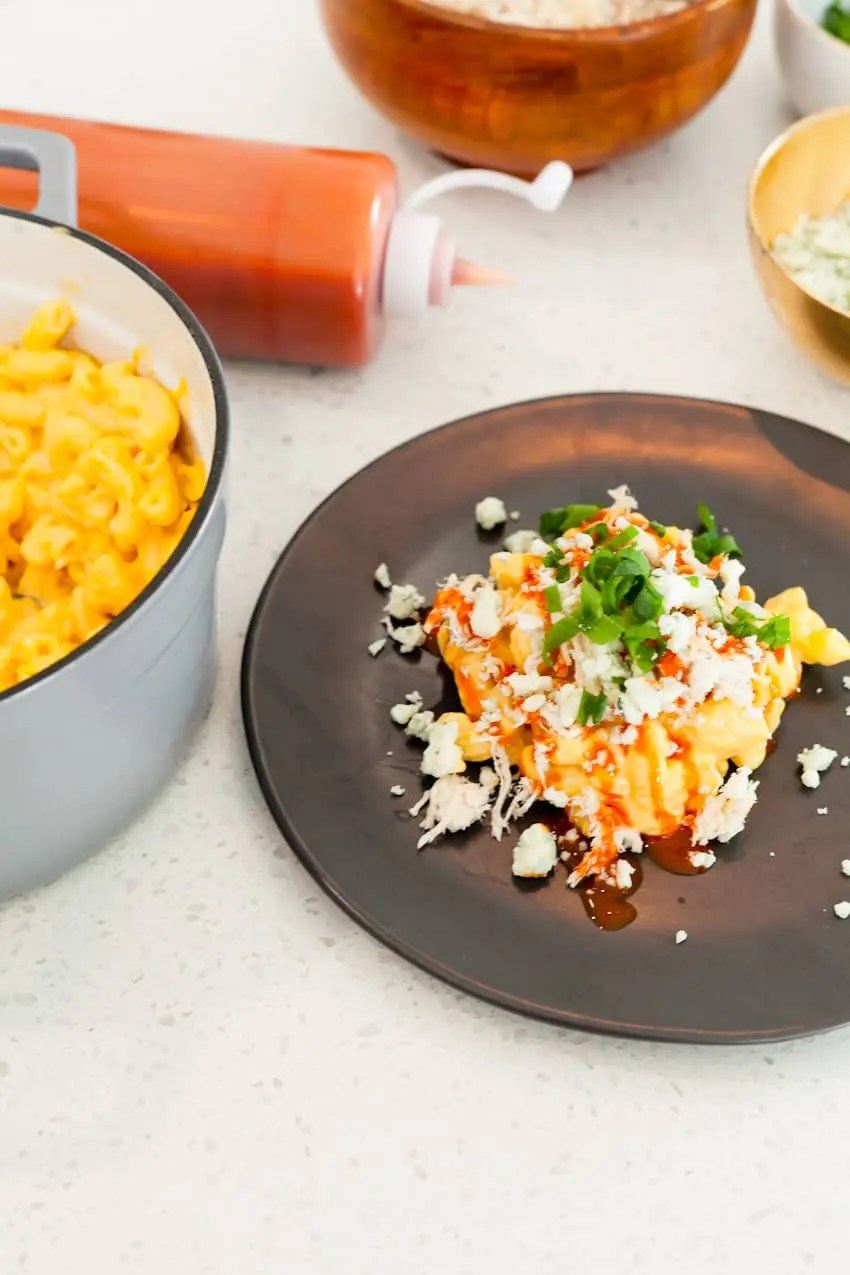 Laid Back Entertaining With a Mashed Potato and Mac and Cheese Bar. Buffalo chicken mac and cheese, pulled pork mashed potatoes and so much more.