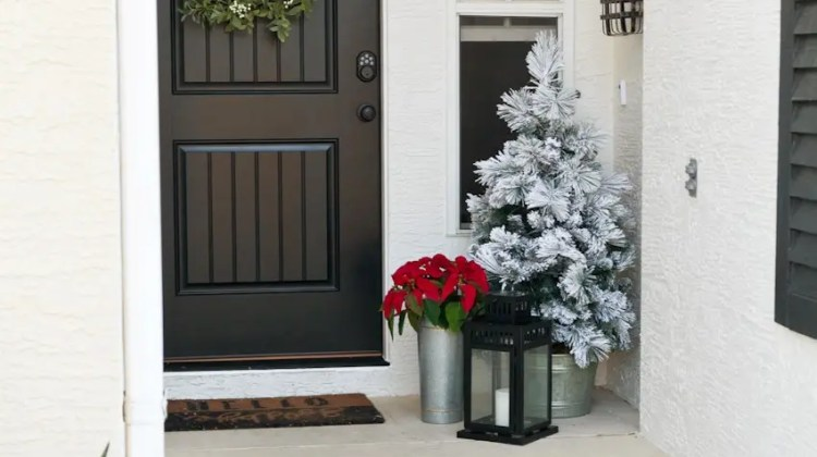 Front door and entryway makeover for better curb appeal