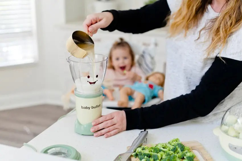 These wholesome soups, a creamy broccoli soup and a potato corn soup, are warm, creamy and come together in just minutes! Though love making this baby food soup, it's perfect for all your kiddos and yourself this winter.