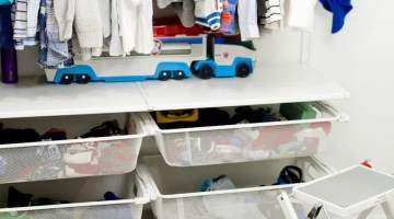 Kids Closet Organization by popular Florida mom blogger Fresh Mommy Blog