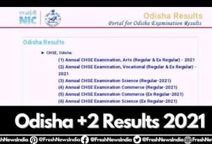 Odisha (CHSE) +2 Arts Result 2021