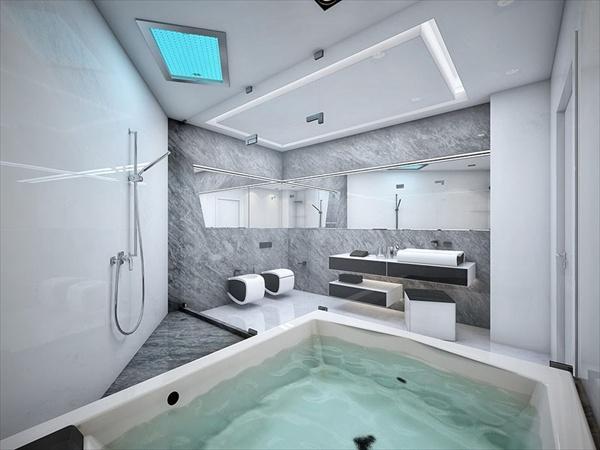 light grey bathroom tile ideas