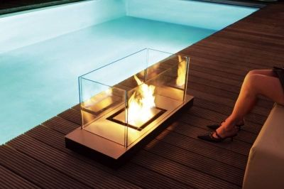 fireplace indoor outdoor New Trend : Portable Fireplaces