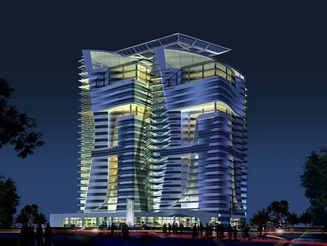 twin eco towers abu dhabi 1 Abu Dhabis Twin Eco Towers are LEED Platinum