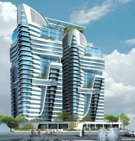 twin eco towers abu dhabi 2 Abu Dhabis Twin Eco Towers are LEED Platinum