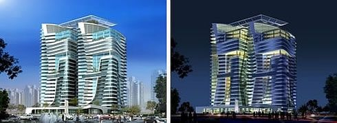 twin eco towers abu dhabi 3 Abu Dhabis Twin Eco Towers are LEED Platinum