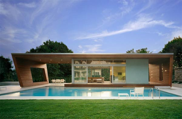 outstanding swimming pool house design 1 Beautiful Pool House in Connecticut by Hariri & Hariri Architecture
