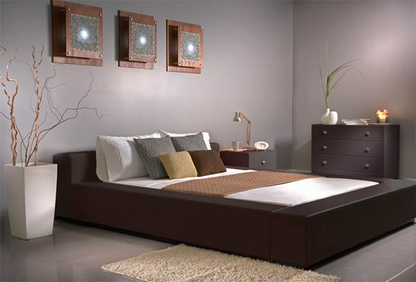 modern leather bedroom 2009 Modern Bedroom Furniture: The Aesthetics of Philosophy