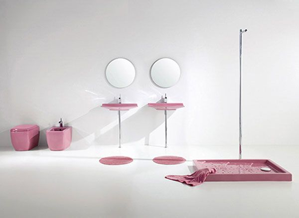 aquaplus pink bathroom fixtures lilac 1 Bathroom Simplicity and Style : Lilac Bathroom Sets by Aquaplus