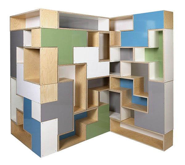 big tet flat8 Trendy Furniture: Modular Tetris Shelves