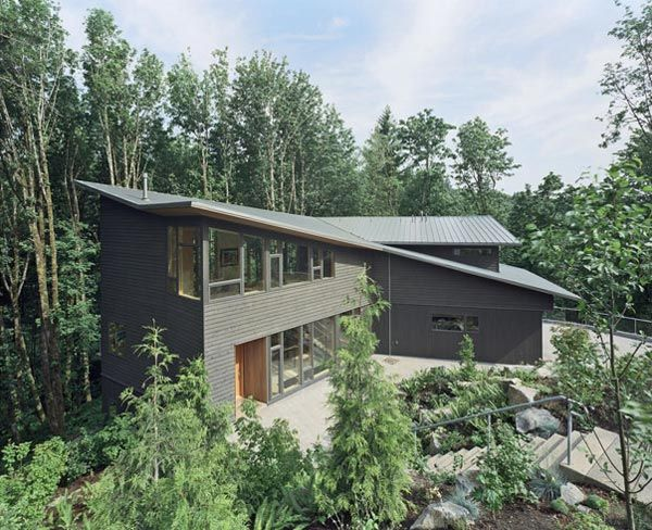 kitchel house 1 Beautiful House Surrounded by Forest and Lush Landscape
