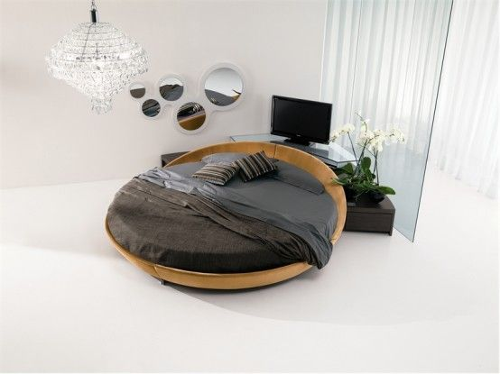 Leather Round Beds by Prealpi 2