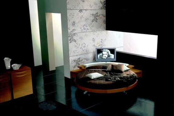 Leather Round Beds by Prealpi 9