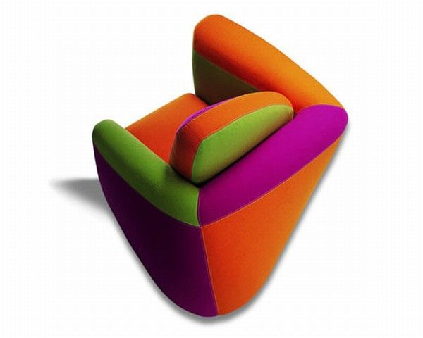 SYMBOL FUXIA ALTO Symbol, an Armchair With a Colorful Design