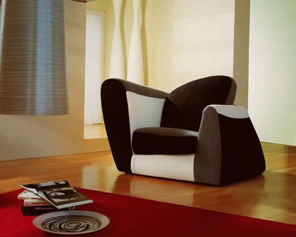 SYMBOL GREY AMBIENT Symbol, an Armchair With a Colorful Design