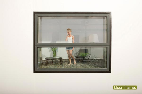 bloom frame2 Bloomframe : Innovative Window which can be Transformed into a Balcony