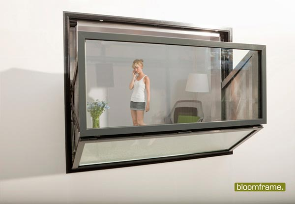 bloom frame3 Bloomframe : Innovative Window which can be Transformed into a Balcony