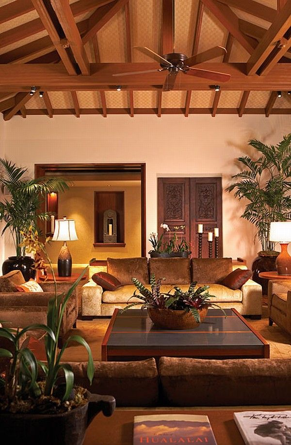 hualalai luxury home design great home at evening Luxury Home in Hualalai
