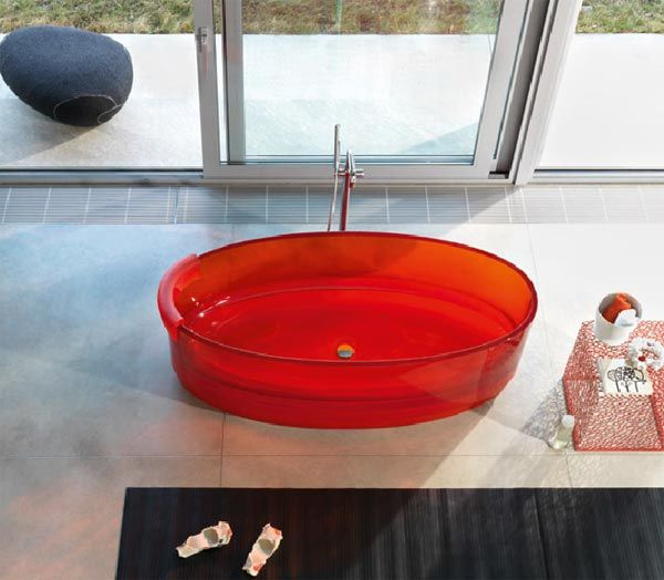 jolie tub3 Contemporary Transparent Glass Tubs from Regia