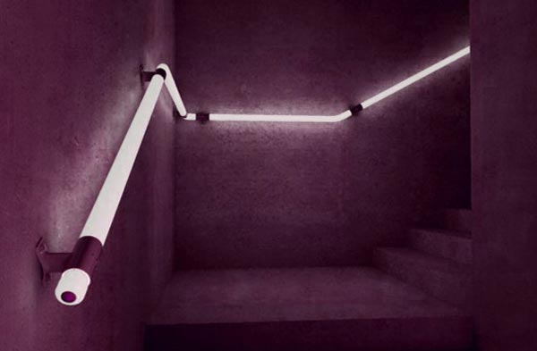 led staircase Cool LED Staircase Handrail Concept