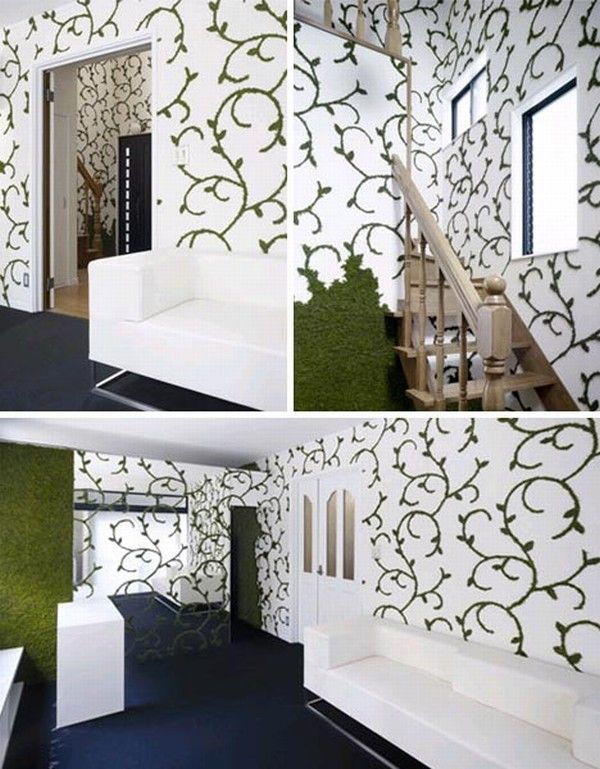 living green interior decor15 Leaving and Breathing Green Walls from Nendo