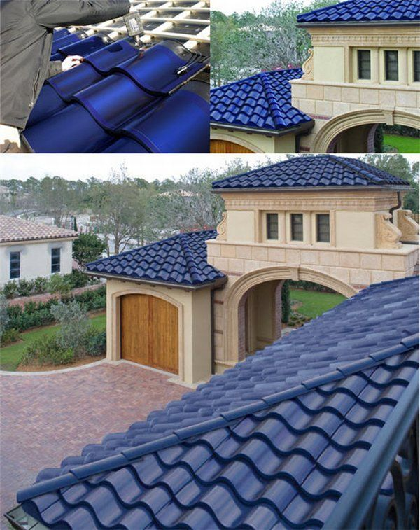 solartiles1 Blue Solar Tiles, Looks And Sustainability