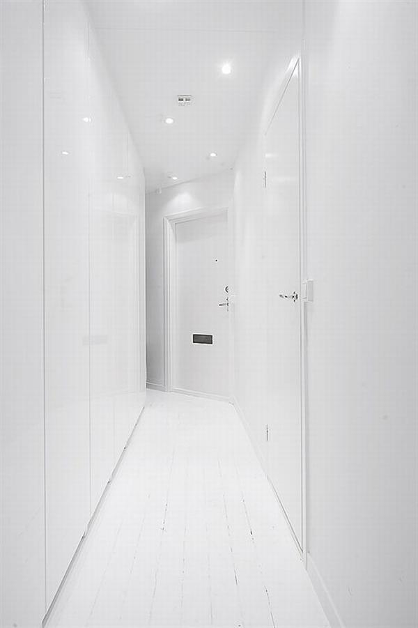 clean white small apartment interior design 14 Simple and Elegant White Apartment